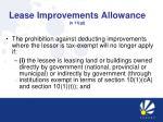 lease improvements allowance s 11 g