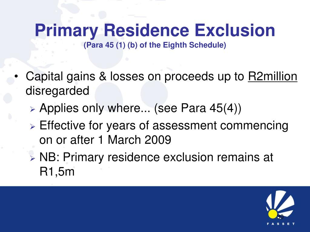 Primary Residence Exclusion