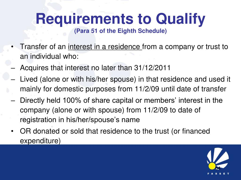 Requirements to Qualify