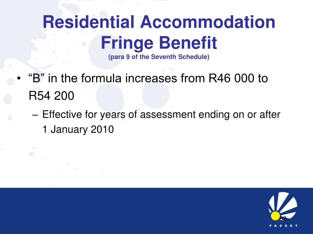 Residential Accommodation Fringe Benefit