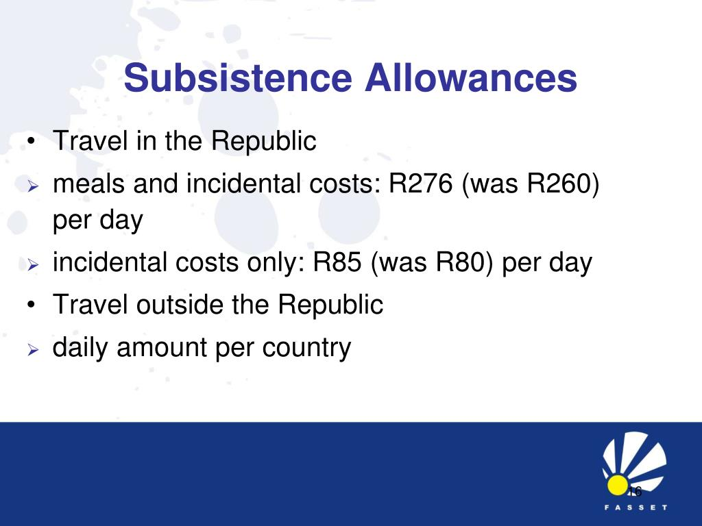 Subsistence Allowances