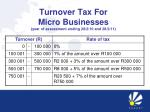 turnover tax for micro businesses year of assessment ending 28 2 10 and 28 2 11