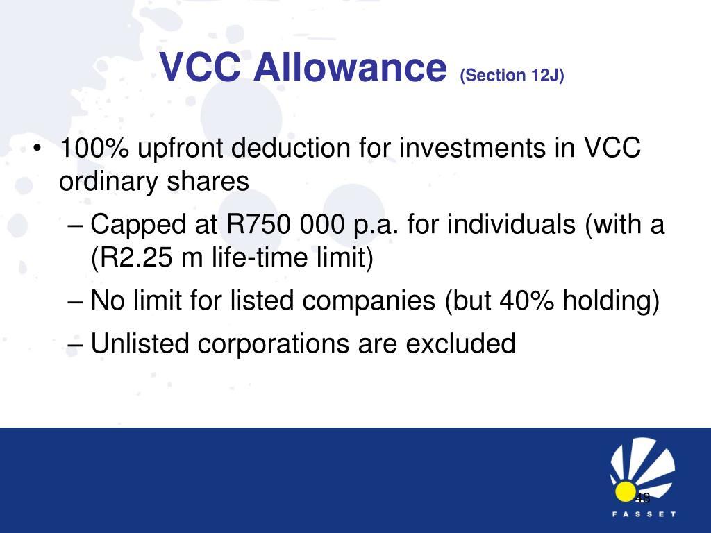 VCC Allowance
