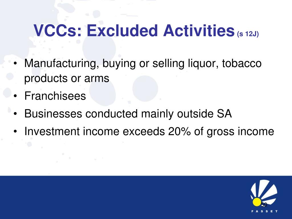 VCCs: Excluded Activities