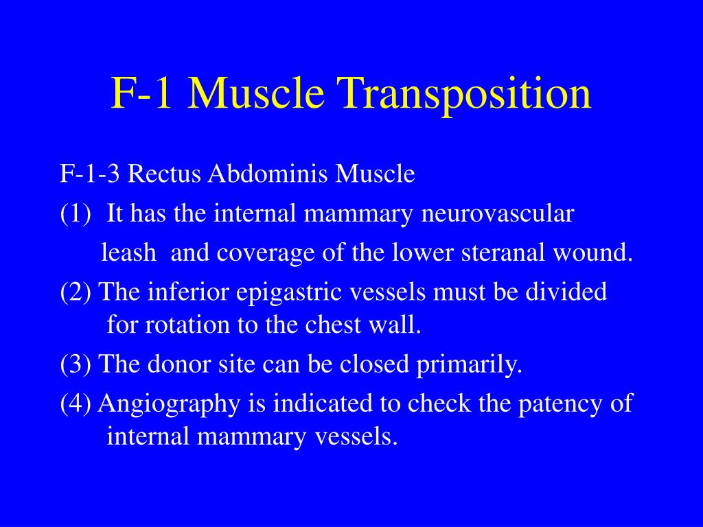 F-1 Muscle Transposition
