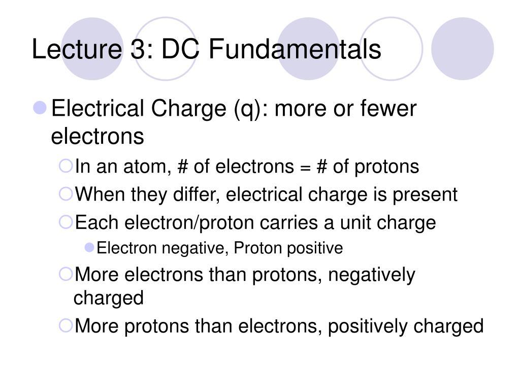 Lecture 3: DC Fundamentals