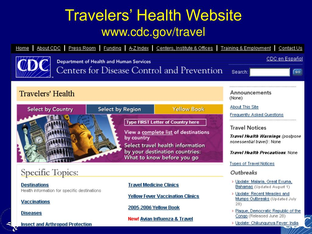 Travelers Health  Features  CDC