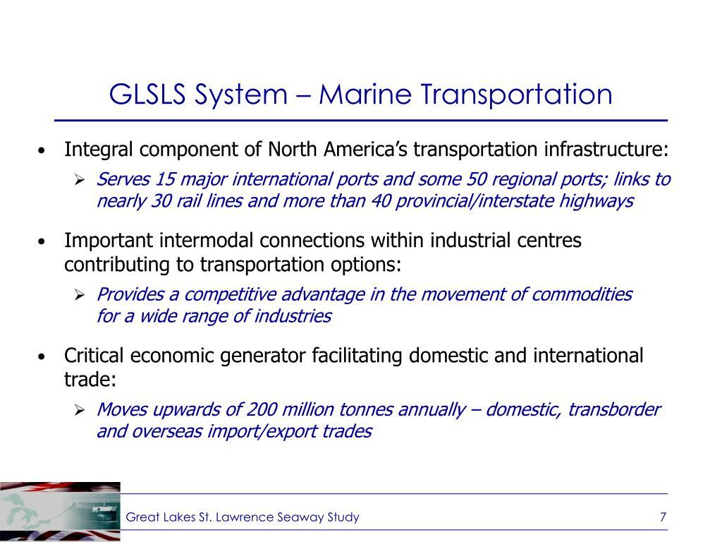 GLSLS System – Marine Transportation