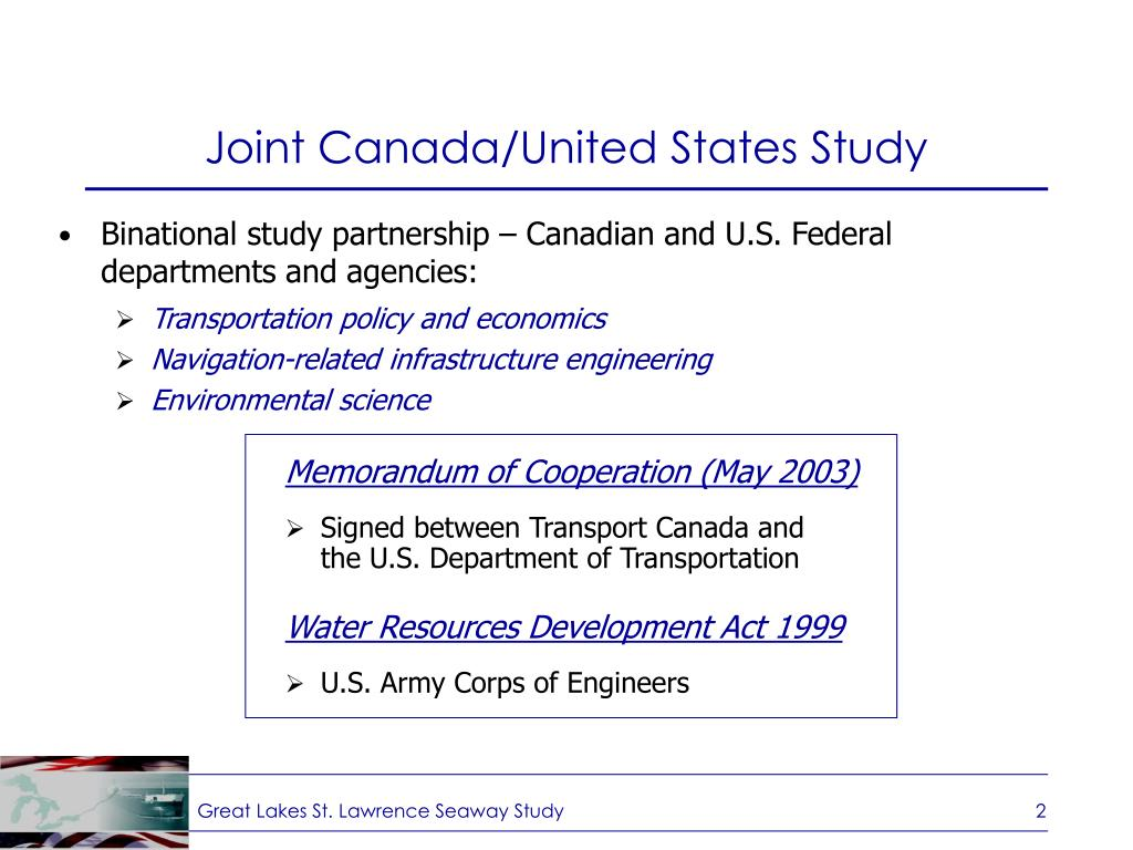 Joint Canada/United States Study