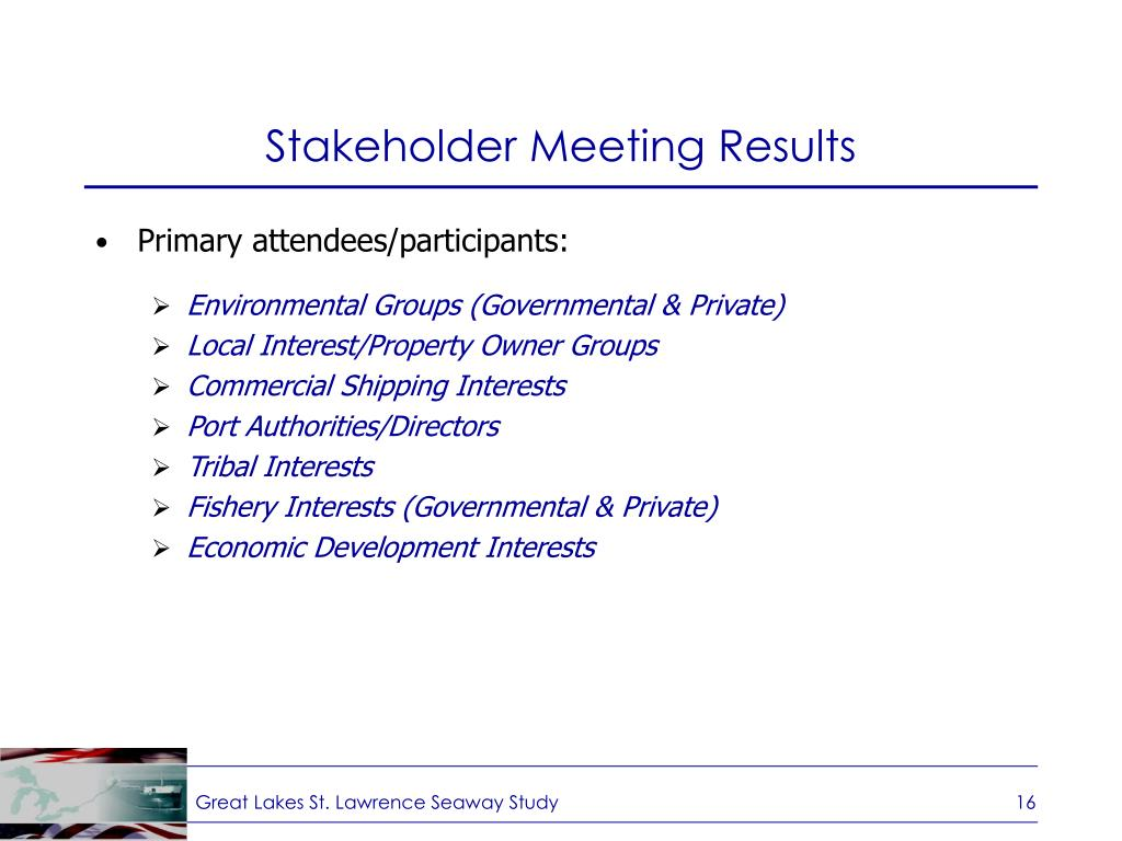 Stakeholder Meeting Results