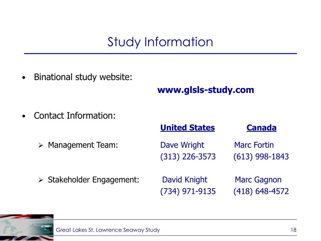 Study Information