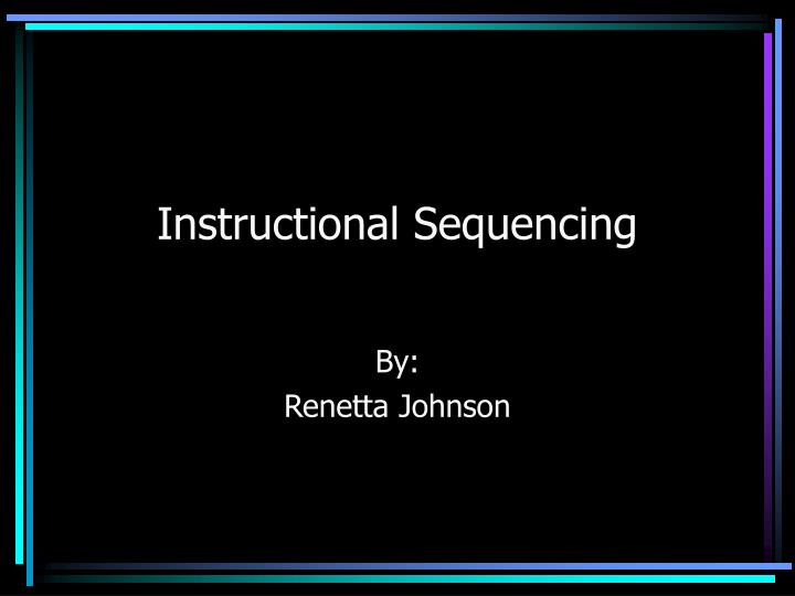 content sequencing instructional design