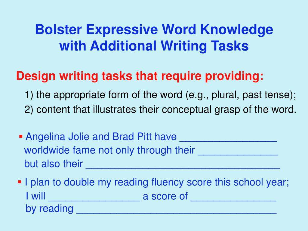 Bolster Expressive Word Knowledge