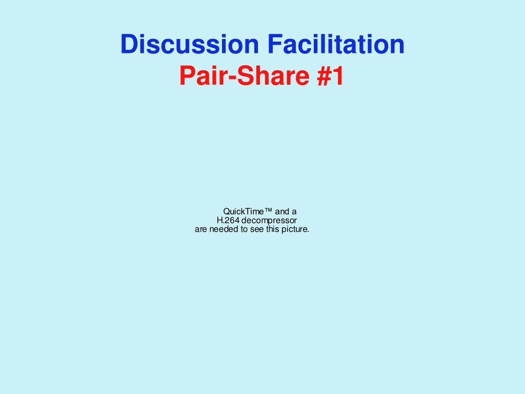 Discussion Facilitation