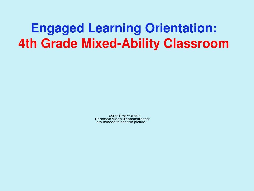 Engaged Learning Orientation: