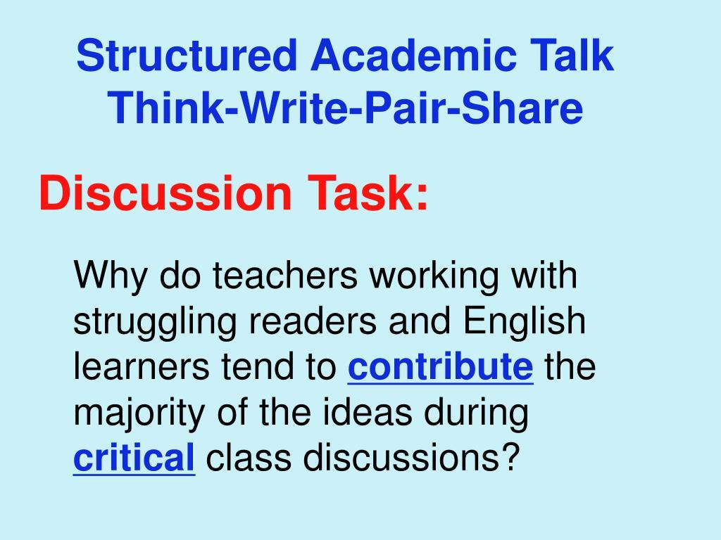 Structured Academic Talk