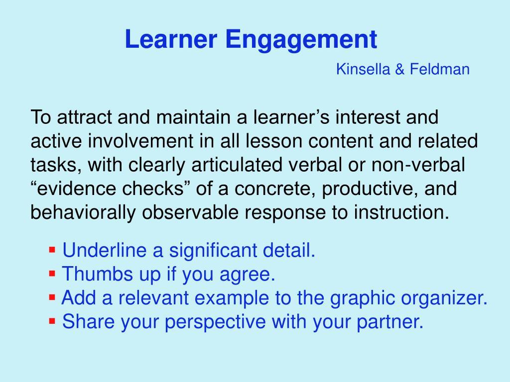 Learner Engagement
