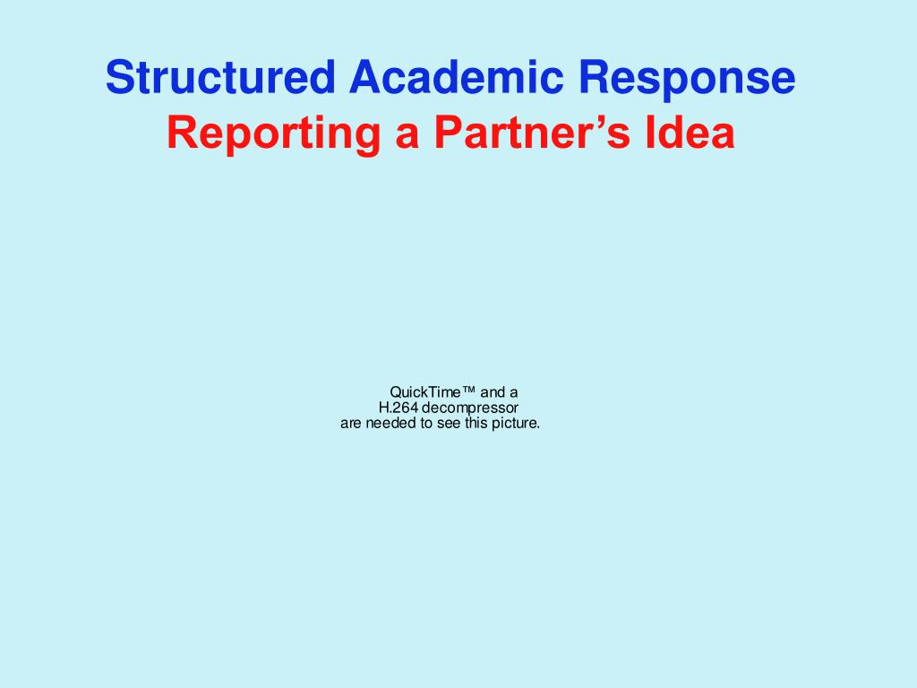 Structured Academic Response