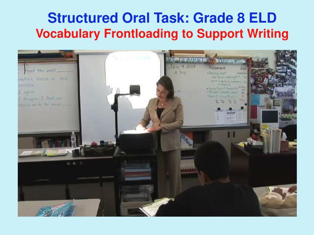 Structured Oral Task: Grade 8 ELD