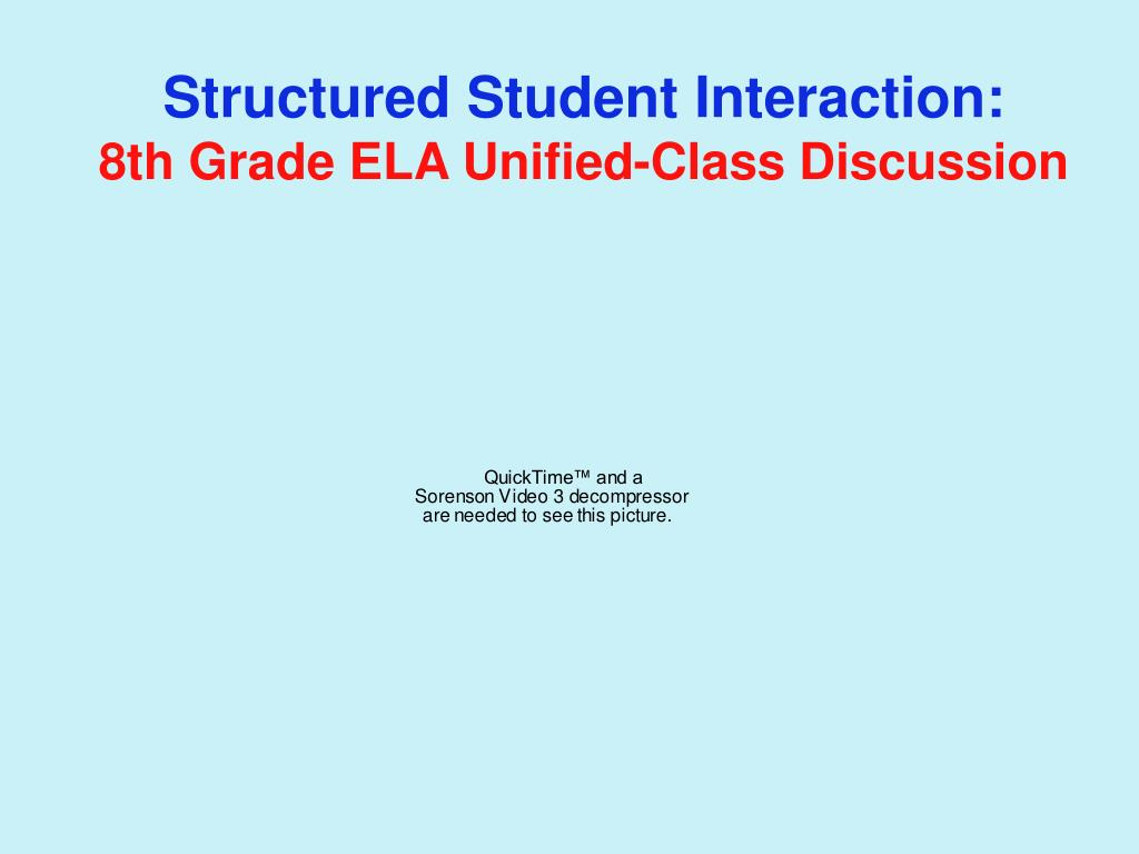 Structured Student Interaction: