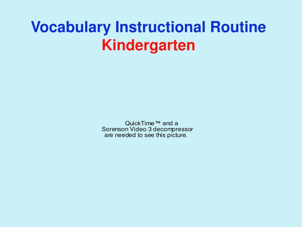 Vocabulary Instructional Routine