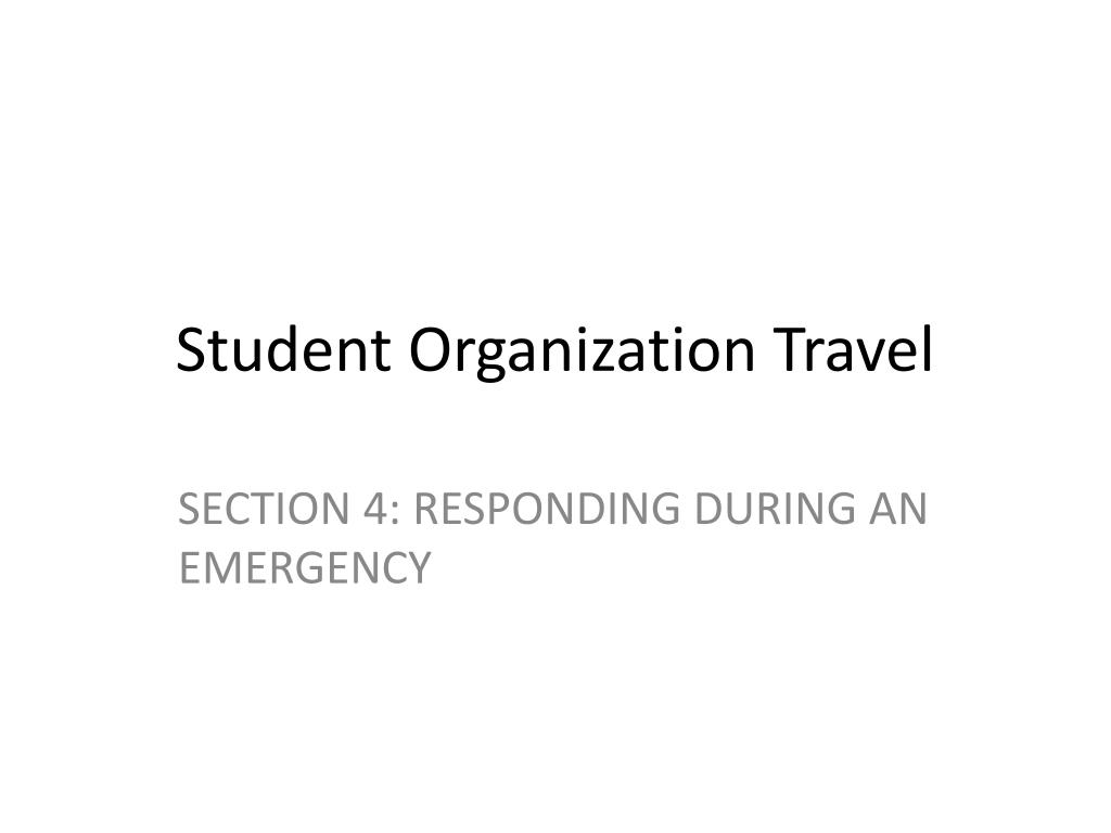 Student Organization Travel
