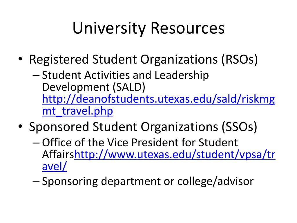 University Resources
