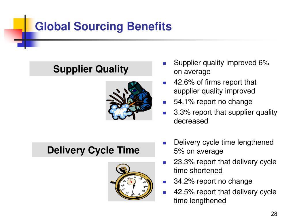 Global Sourcing Benefits
