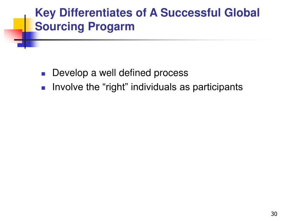 Key Differentiates of A Successful Global Sourcing Progarm