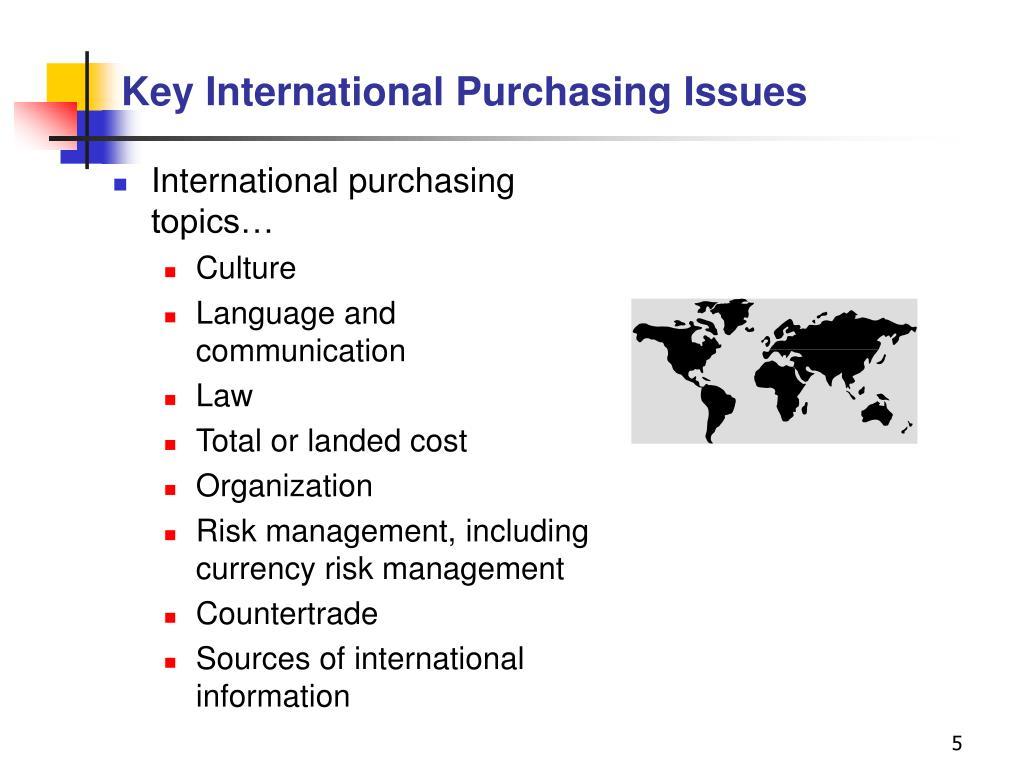 Key International Purchasing Issues