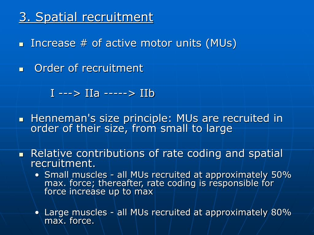 3. Spatial recruitment