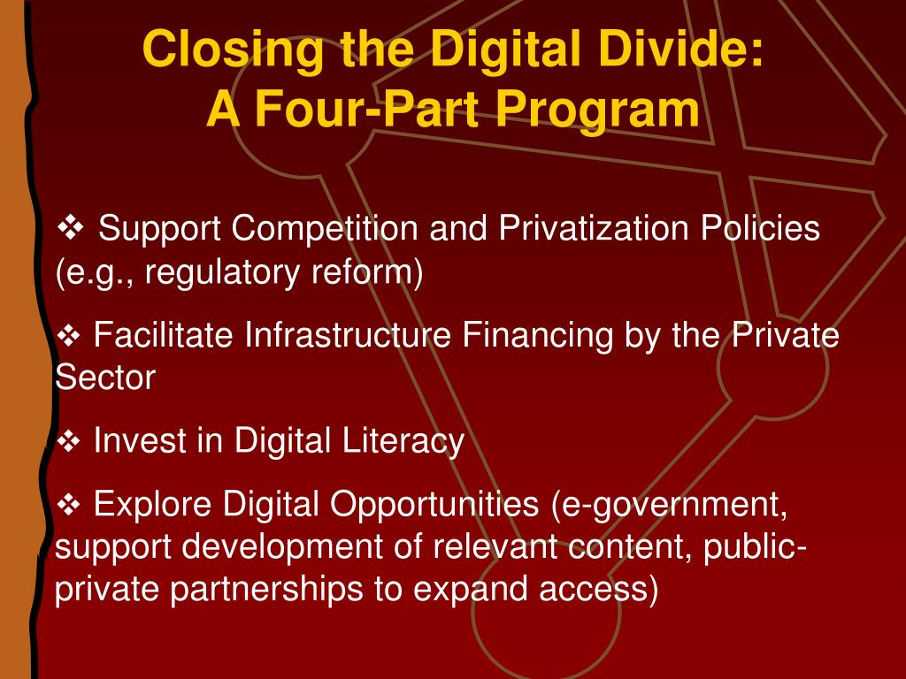 Closing the Digital Divide: