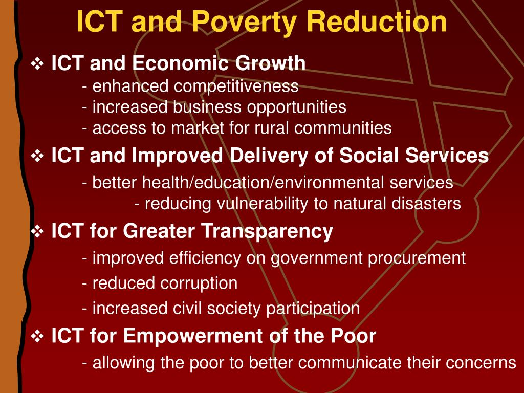 ICT and Poverty Reduction