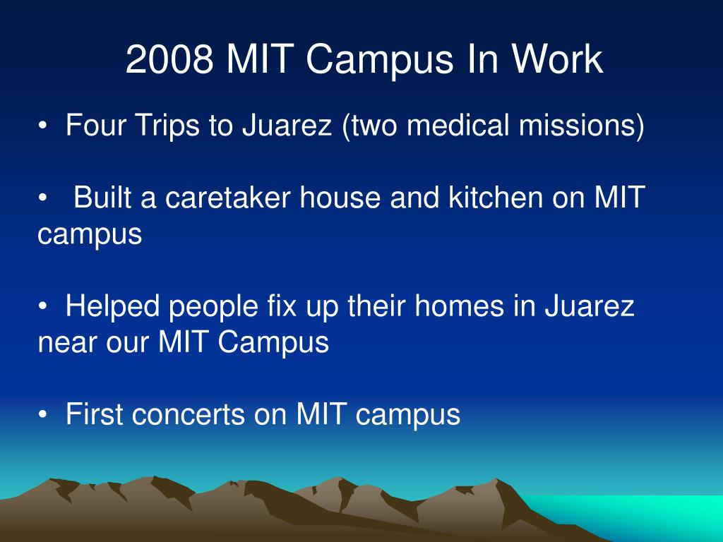 2008 MIT Campus In Work