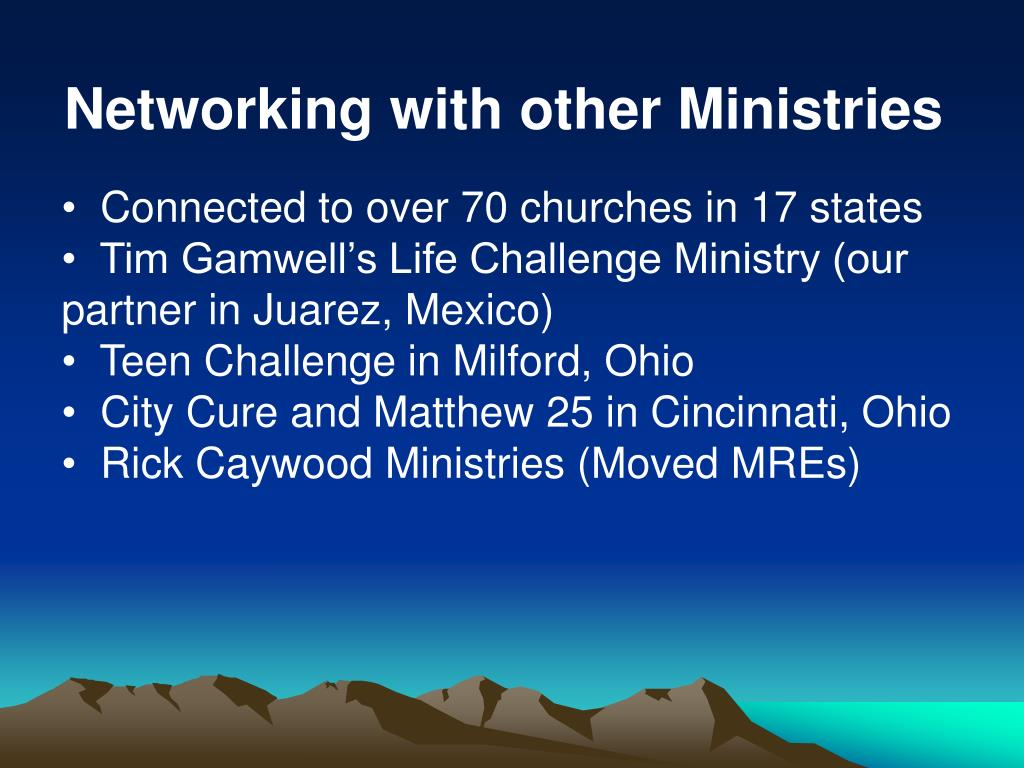 Networking with other Ministries