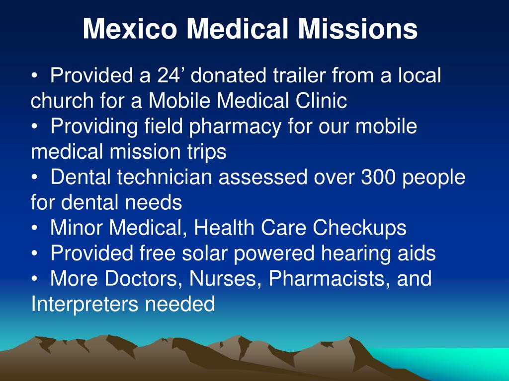 Mexico Medical Missions
