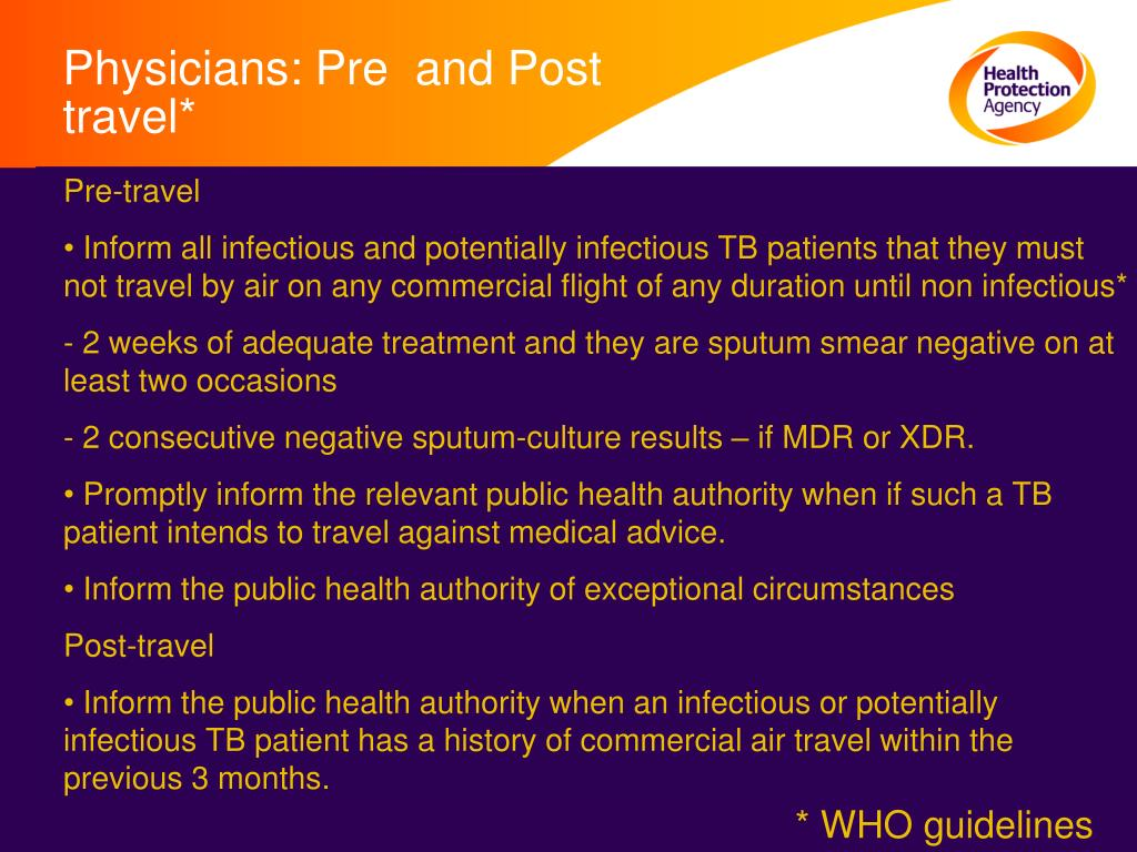 Physicians: Pre  and Post travel*