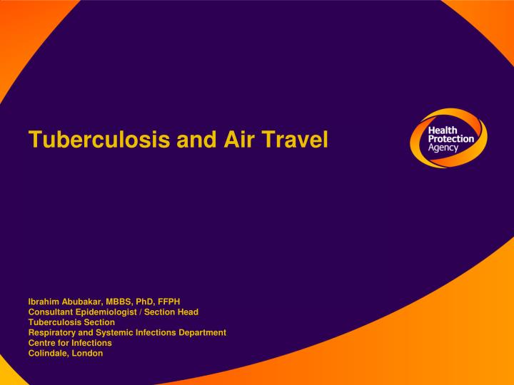 Tuberculosis and Air Travel