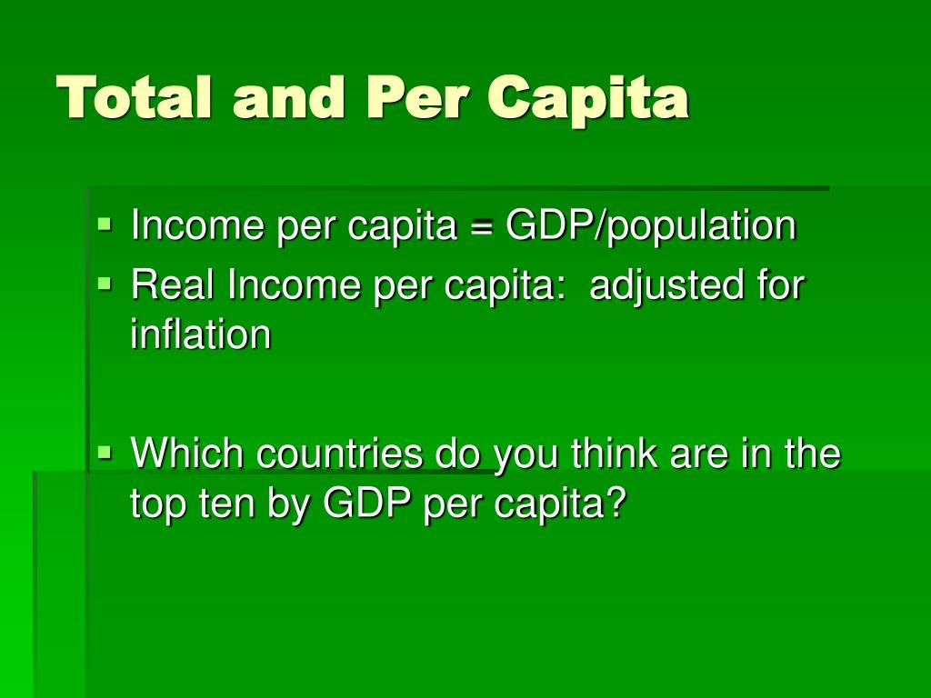 Total and Per Capita