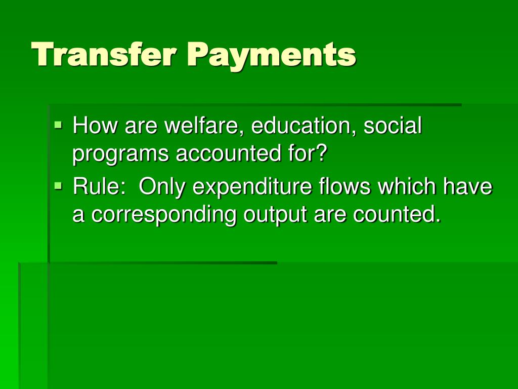 Transfer Payments