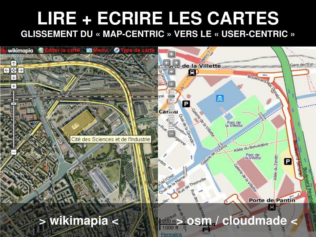 LIRE + ECRIRE LES CARTES
