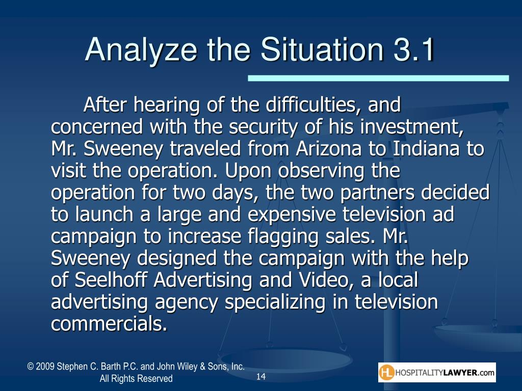 Analyze the Situation 3.1