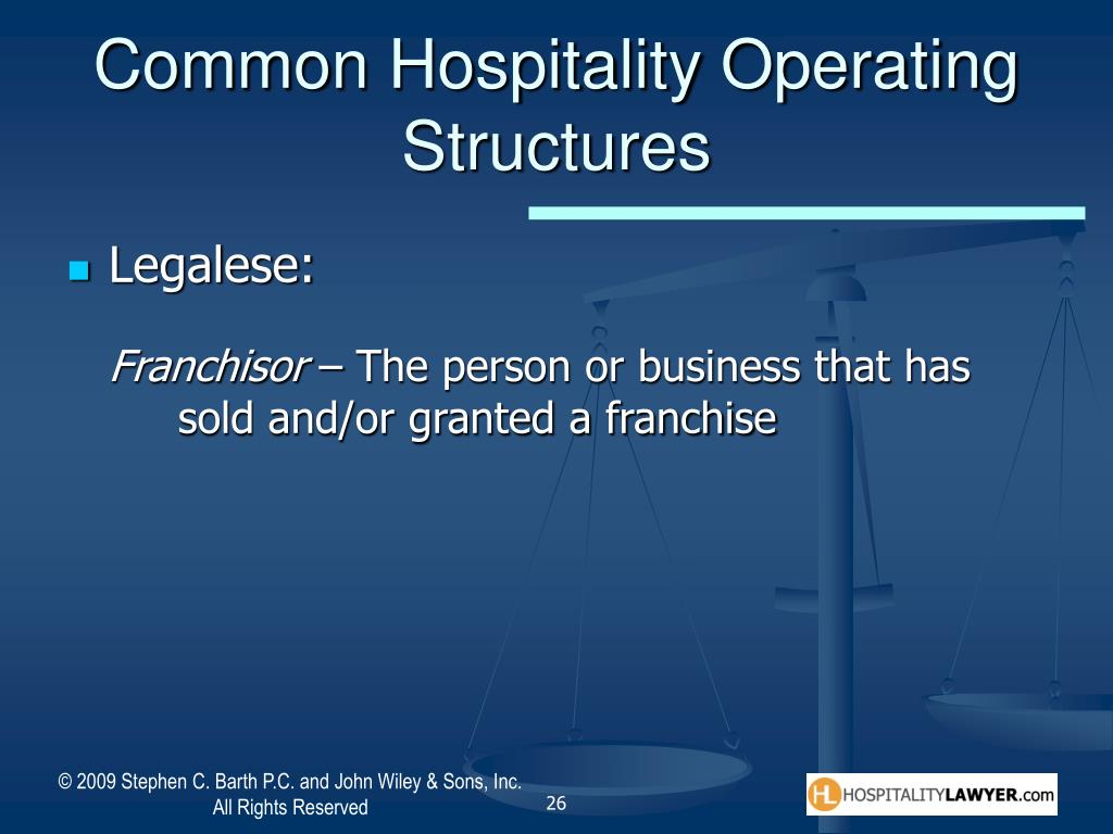 Common Hospitality Operating Structures