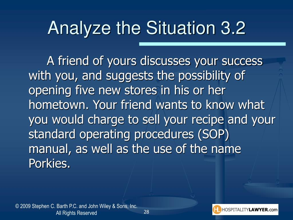 Analyze the Situation 3.2