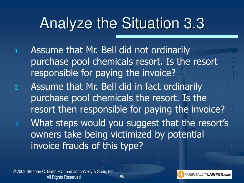 Analyze the Situation 3.3