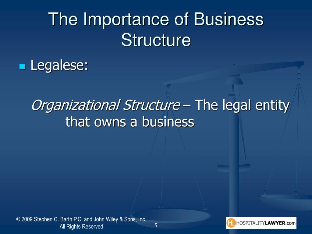The Importance of Business Structure