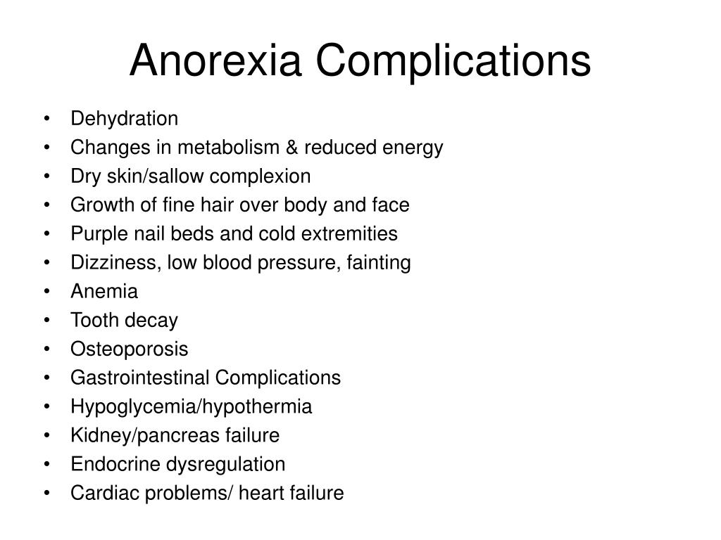 Anorexia Complications
