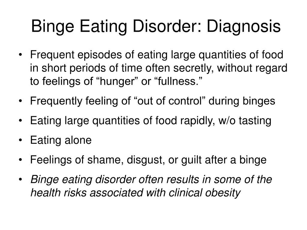 Binge Eating Disorder: Diagnosis
