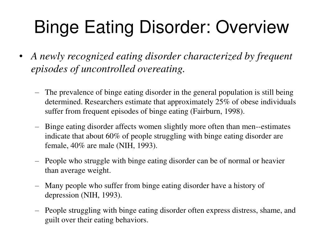 Binge Eating Disorder: Overview