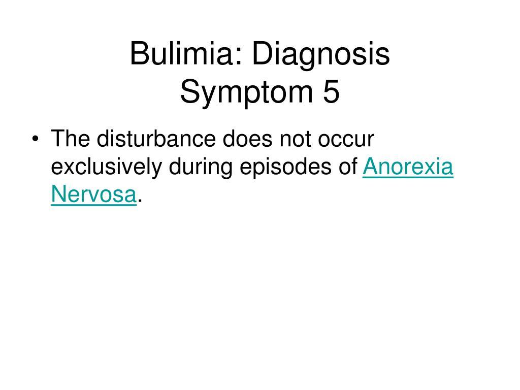 Bulimia: Diagnosis